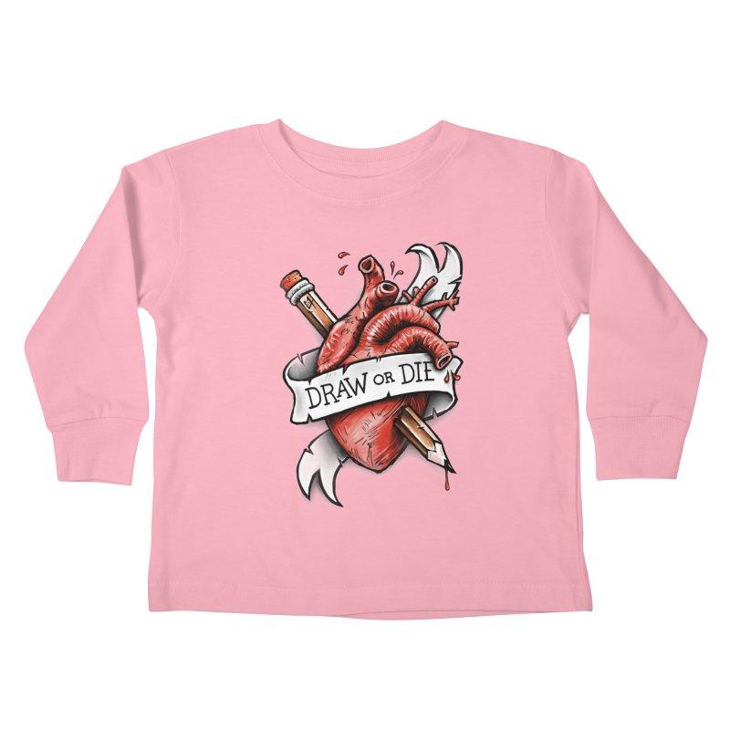 Draw or Die Kids Toddler Longsleeve T-Shirt by c0y0te7's Artist Shop