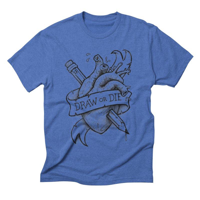 Draw or Die - Black Men's Triblend T-shirt by c0y0te7's Artist Shop