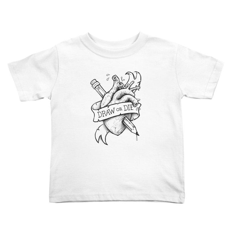 Draw or Die - Black Kids Toddler T-Shirt by c0y0te7's Artist Shop