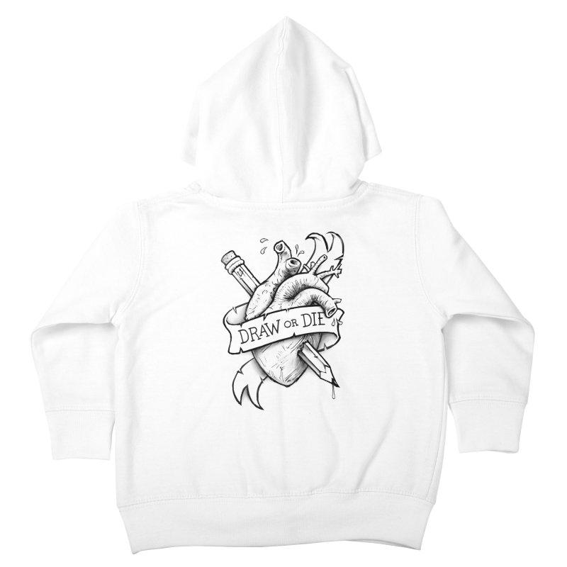 Draw or Die - Black Kids Toddler Zip-Up Hoody by c0y0te7's Artist Shop