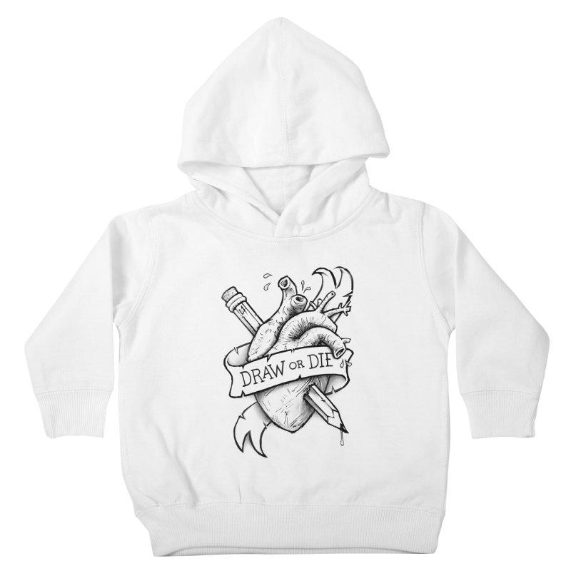 Draw or Die - Black Kids Toddler Pullover Hoody by c0y0te7's Artist Shop