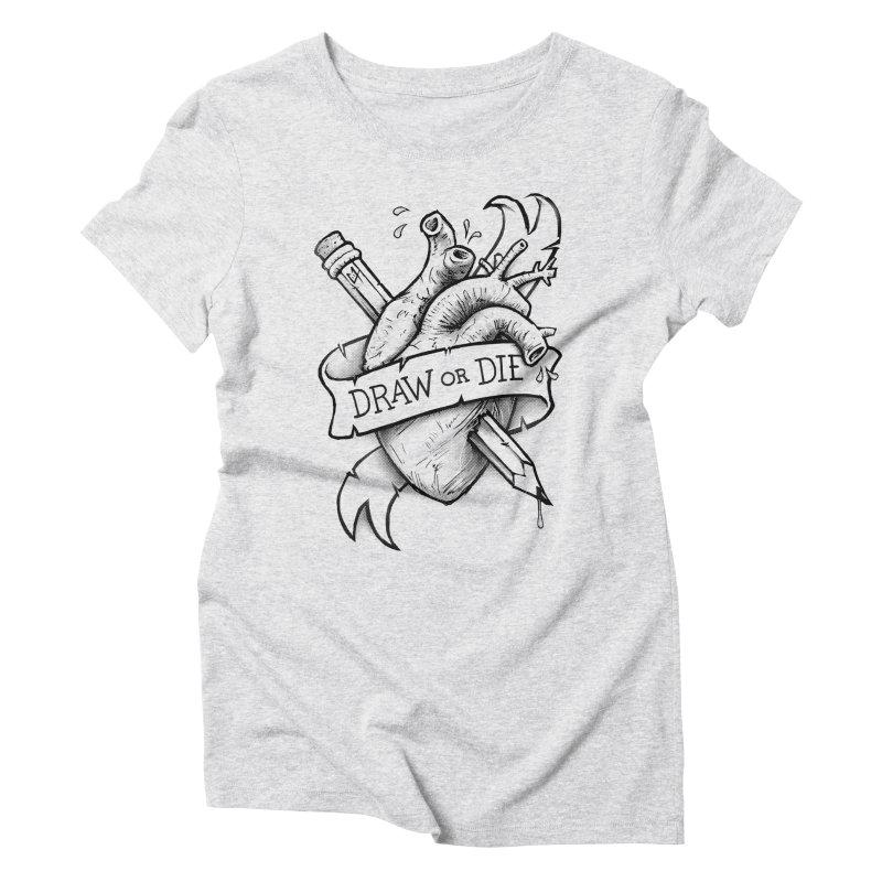 Draw or Die - Black Women's Triblend T-Shirt by c0y0te7's Artist Shop