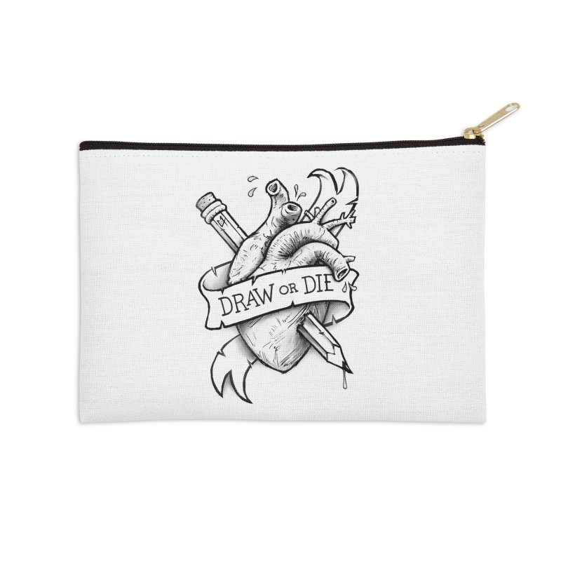 Draw or Die - Black Accessories Zip Pouch by c0y0te7's Artist Shop