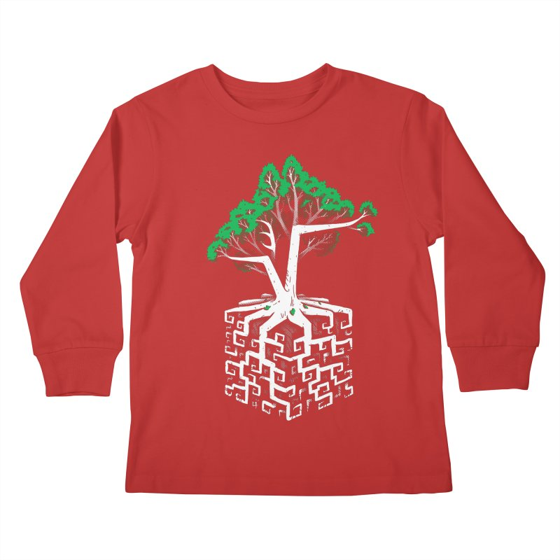 Cube Root Kids Longsleeve T-Shirt by c0y0te7's Artist Shop