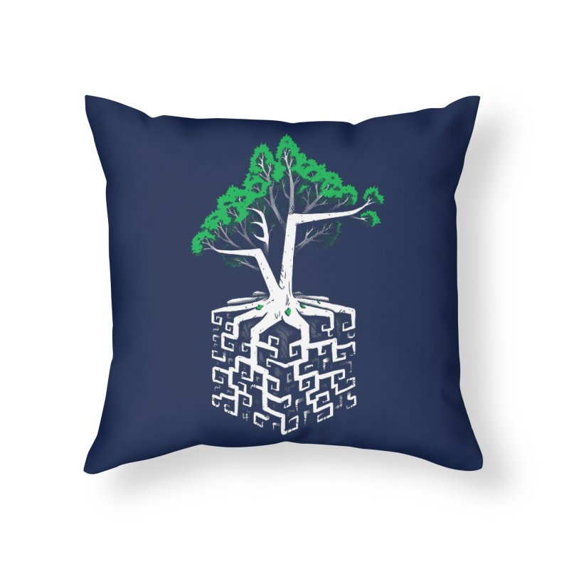Cube Root Home Throw Pillow by c0y0te7's Artist Shop