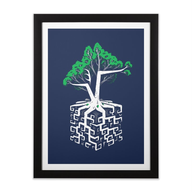 Cube Root Home Framed Fine Art Print by c0y0te7's Artist Shop