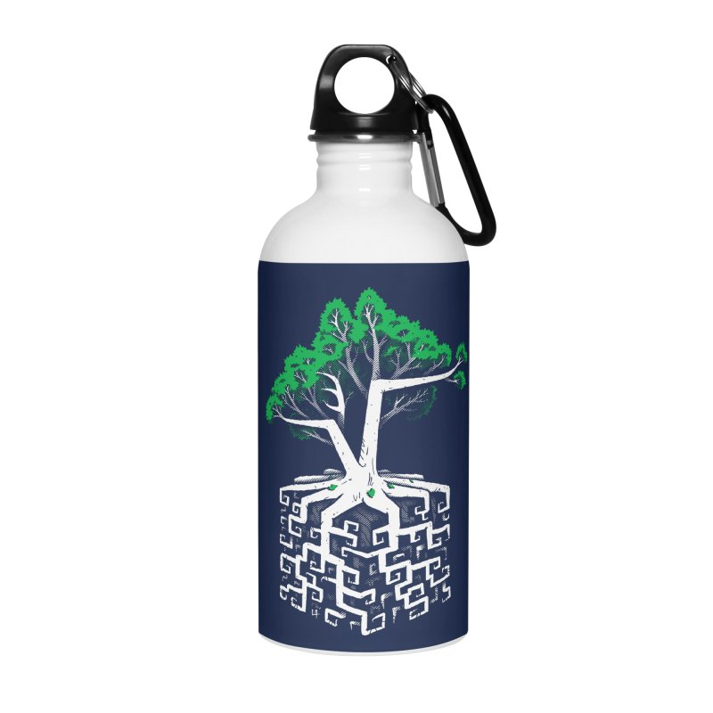 Cube Root Accessories Water Bottle by c0y0te7's Artist Shop