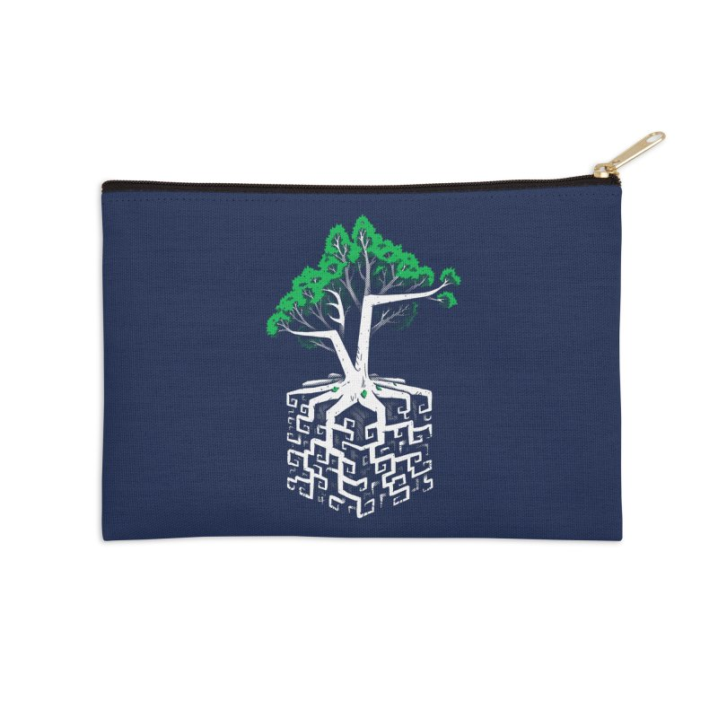 Cube Root Accessories Zip Pouch by c0y0te7's Artist Shop
