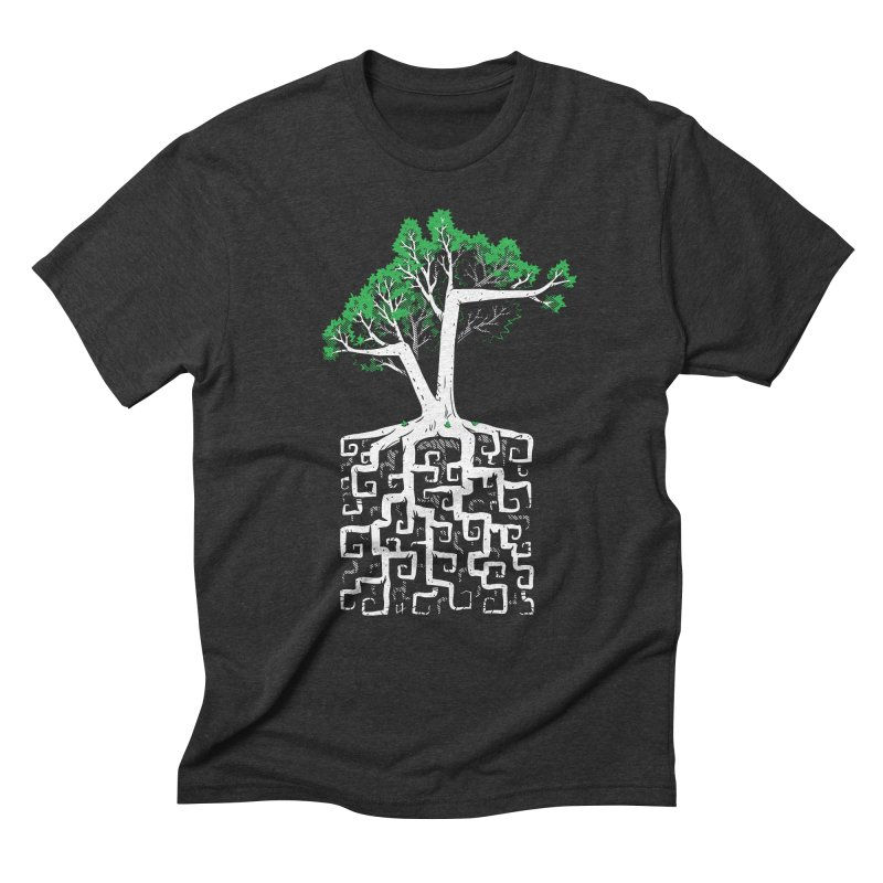 Square Root Men's Triblend T-shirt by c0y0te7's Artist Shop