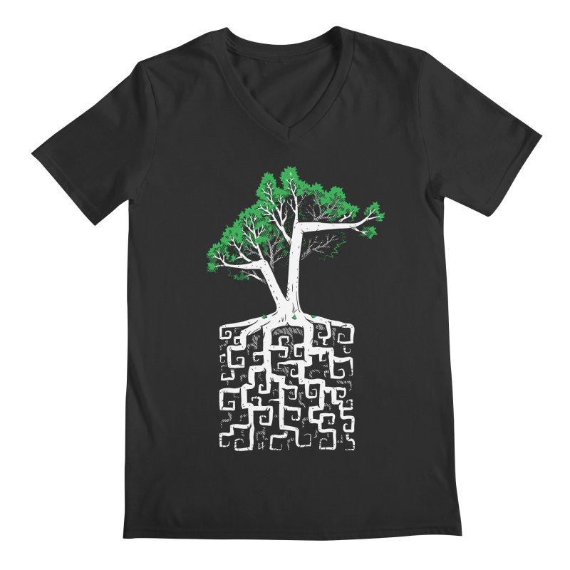 Square Root Men's V-Neck by c0y0te7's Artist Shop