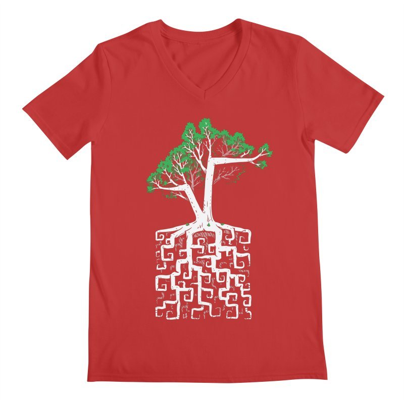 Square Root Men's V-Neck by c0y0te7's Artist Shop