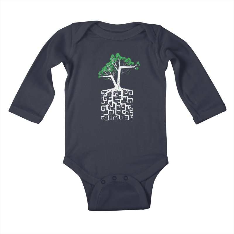 Square Root Kids Baby Longsleeve Bodysuit by c0y0te7's Artist Shop