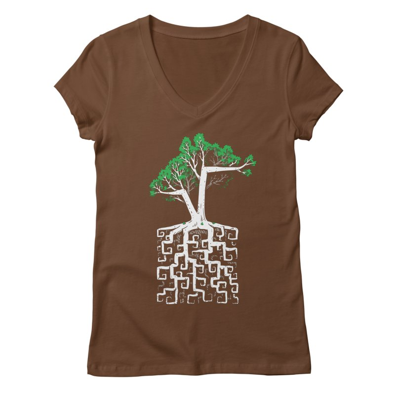 Square Root Women's V-Neck by c0y0te7's Artist Shop