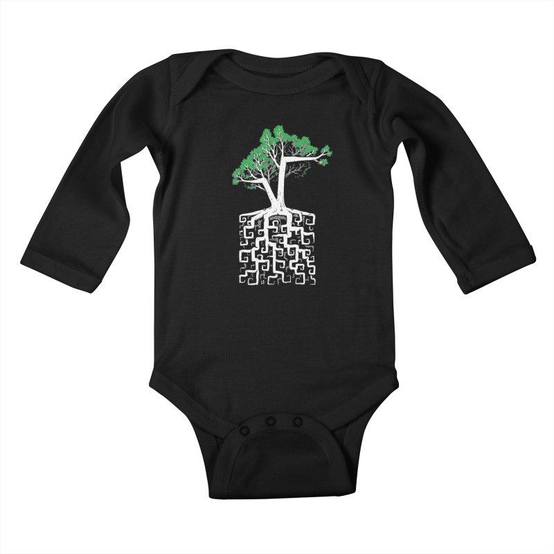 Square Root Kids Baby Longsleeve Bodysuit by c0y0te7's Artist Shop