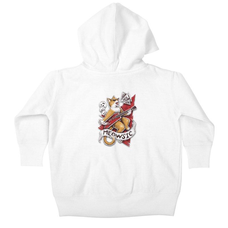 Meowsic Kids Baby Zip-Up Hoody by c0y0te7's Artist Shop