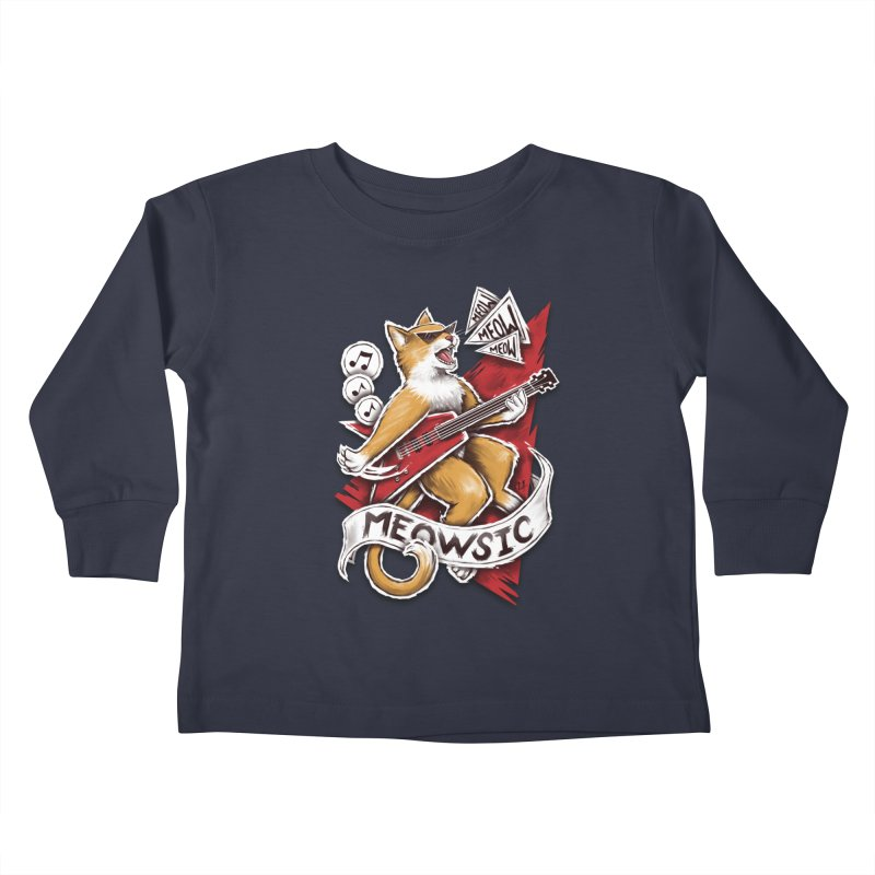 Meowsic Kids Toddler Longsleeve T-Shirt by c0y0te7's Artist Shop