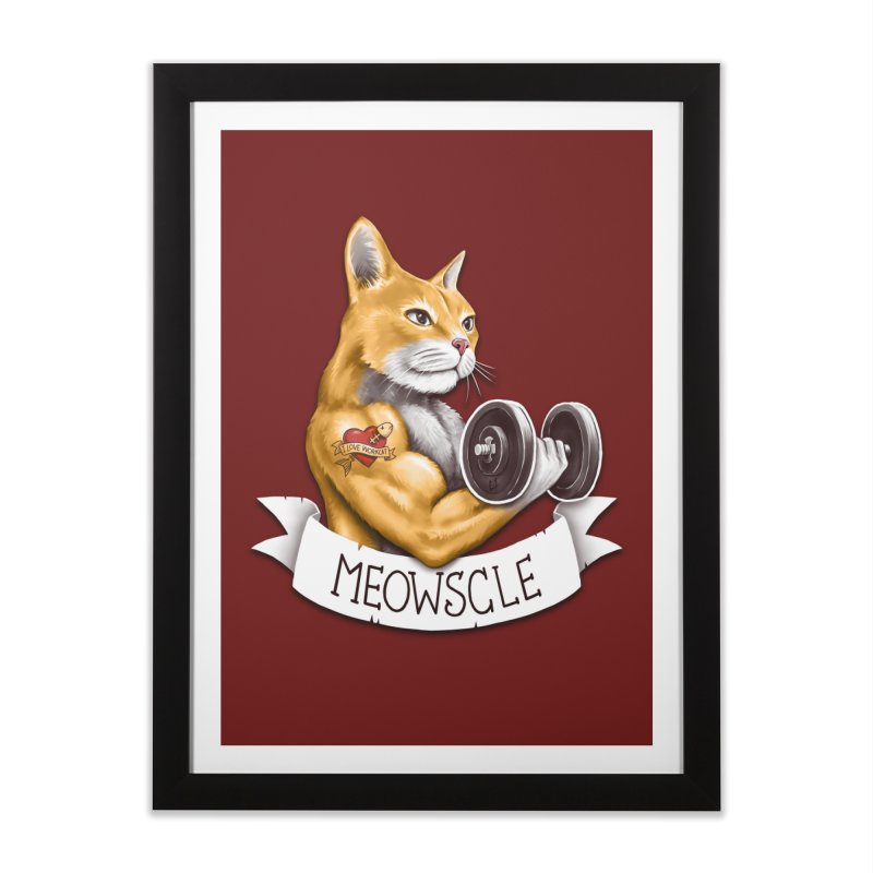 Meowscle Home Framed Fine Art Print by c0y0te7's Artist Shop