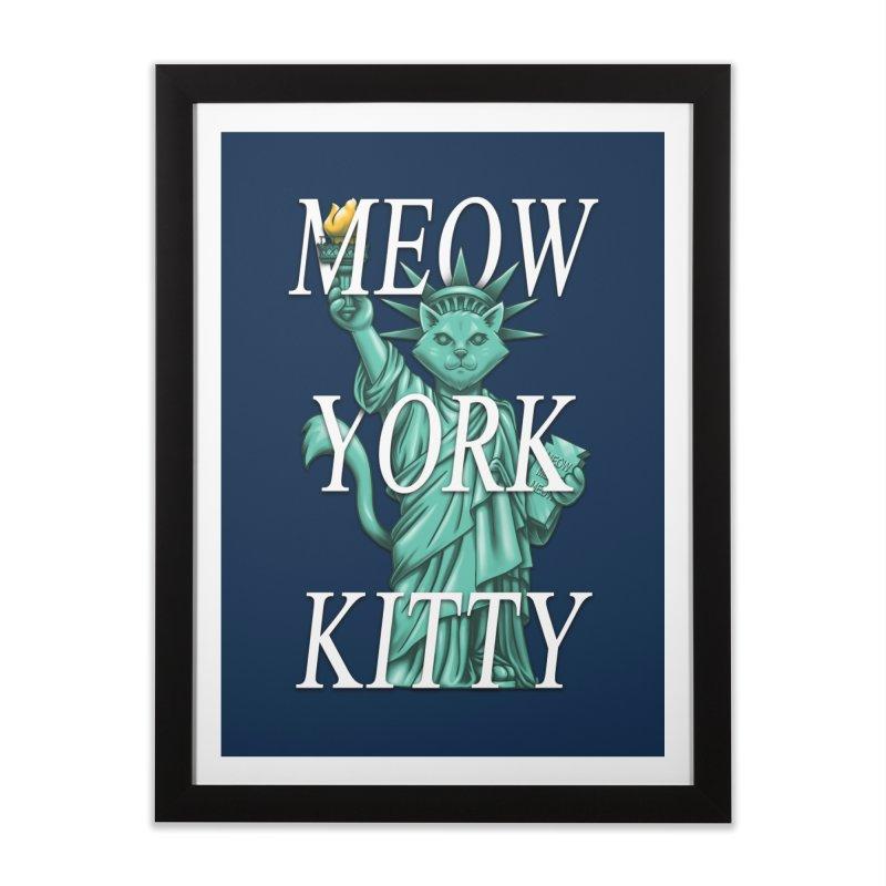 Meow York Kitty Home Framed Fine Art Print by c0y0te7's Artist Shop