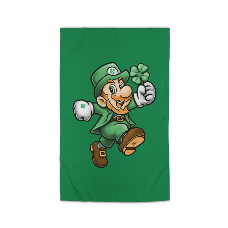 Lucky Mario Home Rug by c0y0te7's Artist Shop