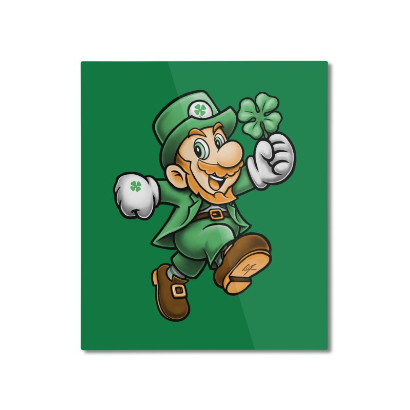 Lucky Mario Home Mounted Aluminum Print by c0y0te7's Artist Shop
