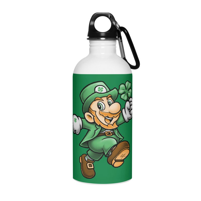 Lucky Mario Accessories Water Bottle by c0y0te7's Artist Shop