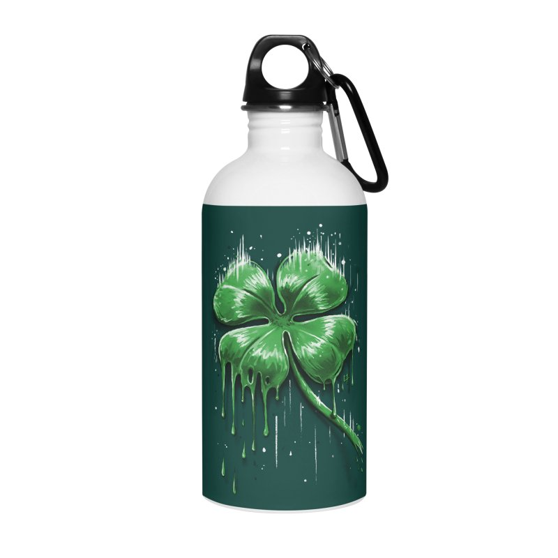 Four Leaf Clover Accessories Water Bottle by c0y0te7's Artist Shop