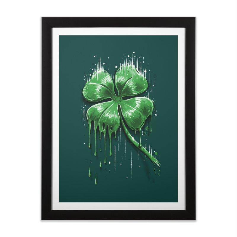 Four Leaf Clover Home Framed Fine Art Print by c0y0te7's Artist Shop
