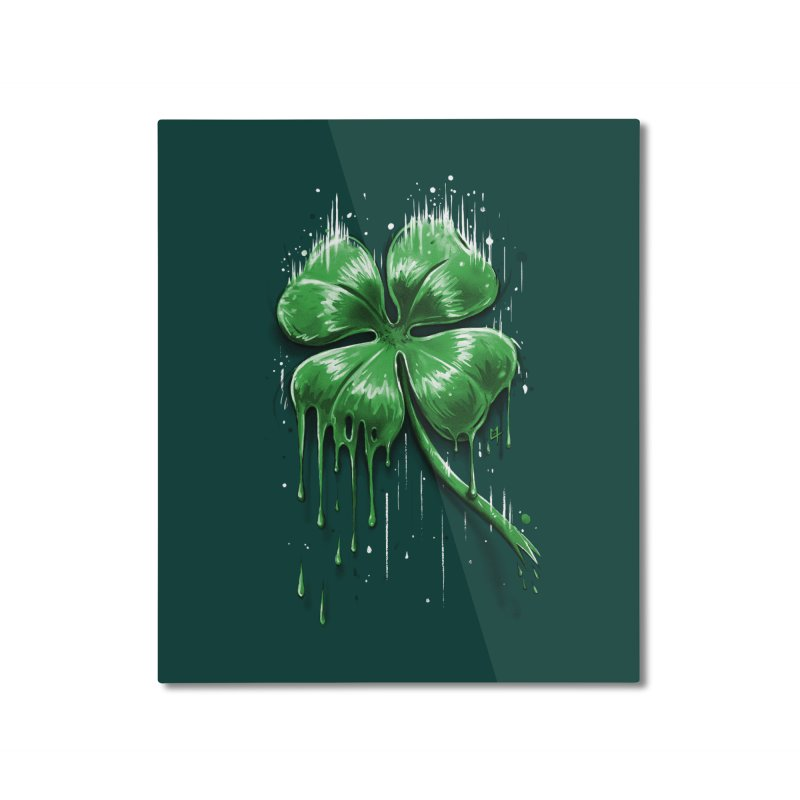Four Leaf Clover Home Mounted Aluminum Print by c0y0te7's Artist Shop