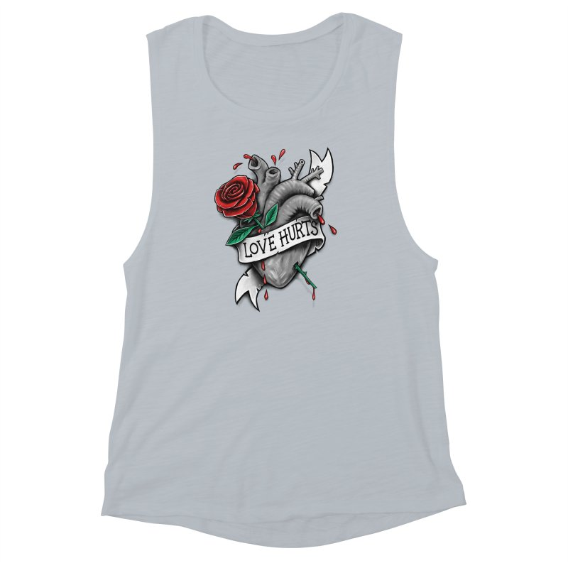 Love Hurts Women's Muscle Tank by c0y0te7's Artist Shop