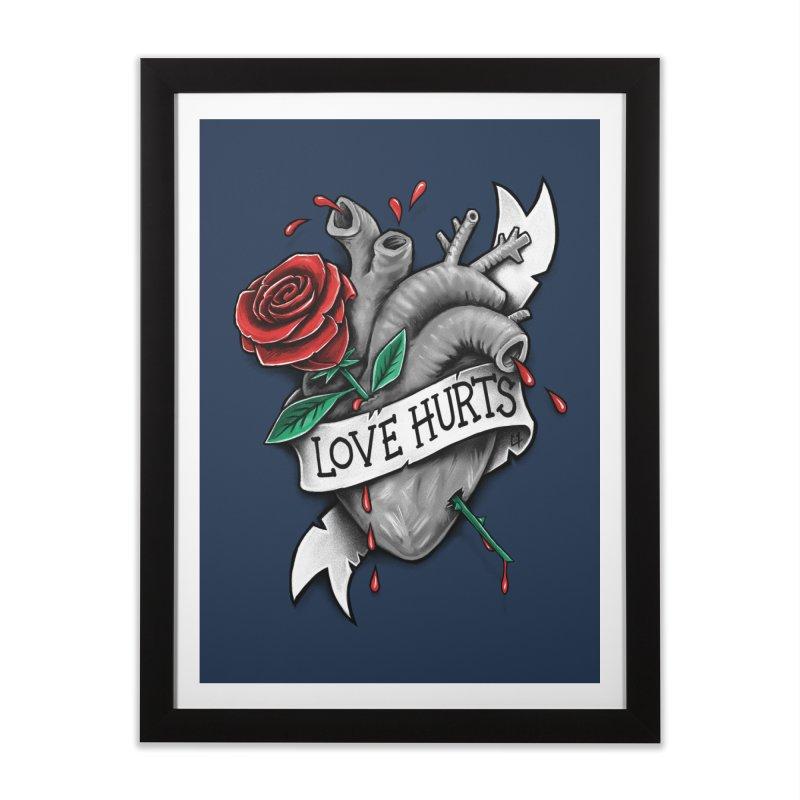 Love Hurts Home Framed Fine Art Print by c0y0te7's Artist Shop