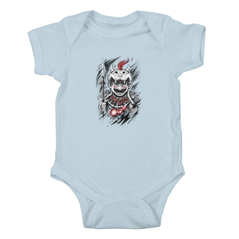 Wild Mario Kids Baby Bodysuit by c0y0te7's Artist Shop