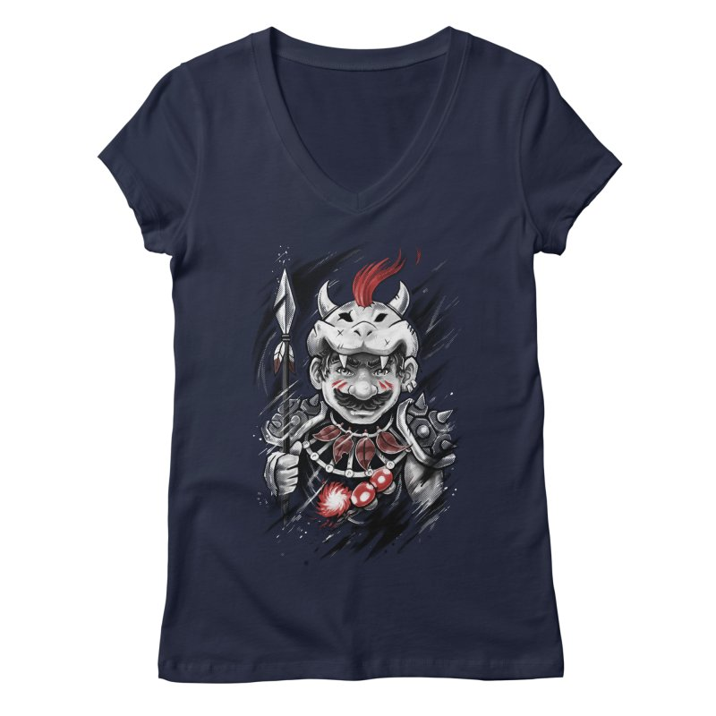 Wild Mario Women's V-Neck by c0y0te7's Artist Shop