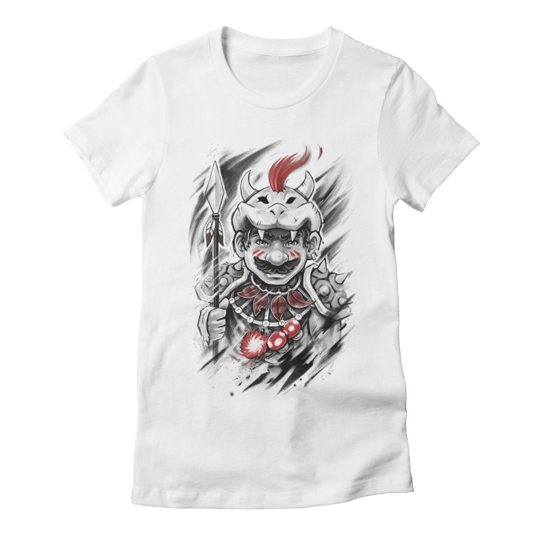 Wild Mario Women's Fitted T-Shirt by c0y0te7's Artist Shop