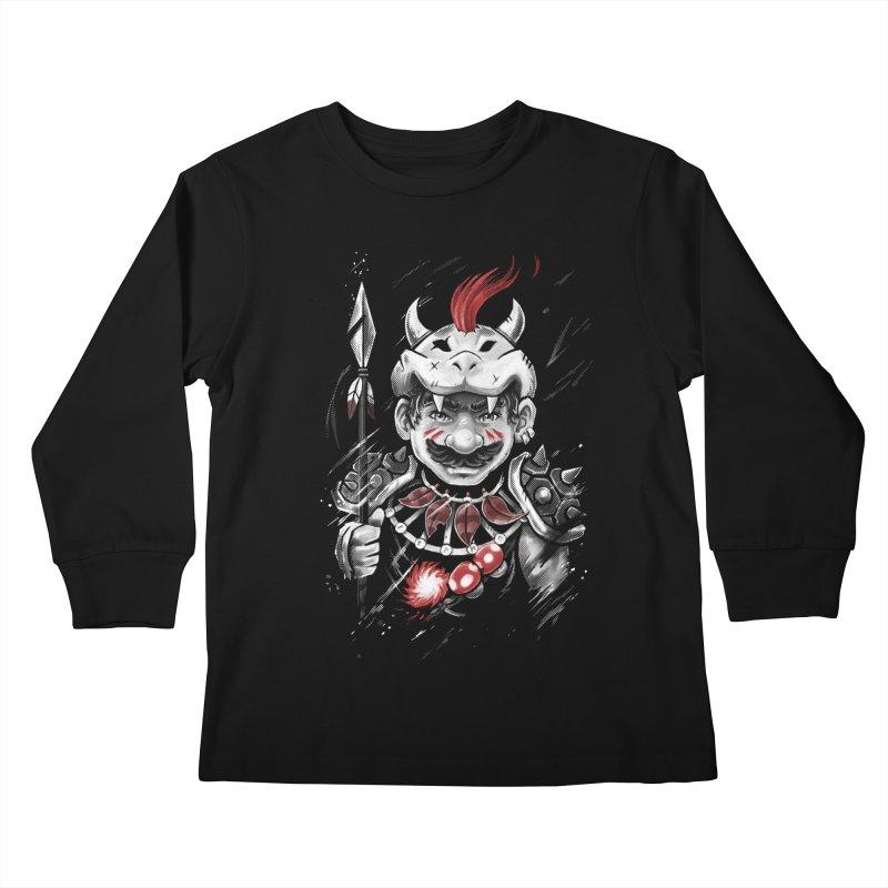 Wild Mario Kids Longsleeve T-Shirt by c0y0te7's Artist Shop