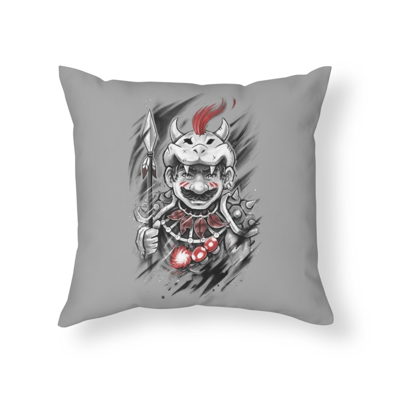 Wild Mario Home Throw Pillow by c0y0te7's Artist Shop