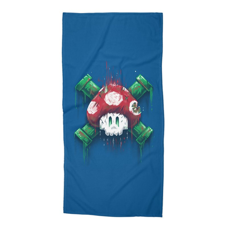 Mushroom Skull Accessories Beach Towel by c0y0te7's Artist Shop
