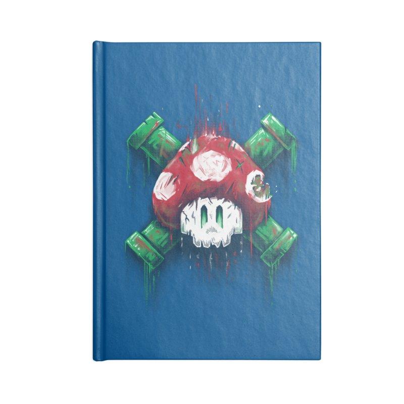 Mushroom Skull Accessories Notebook by c0y0te7's Artist Shop