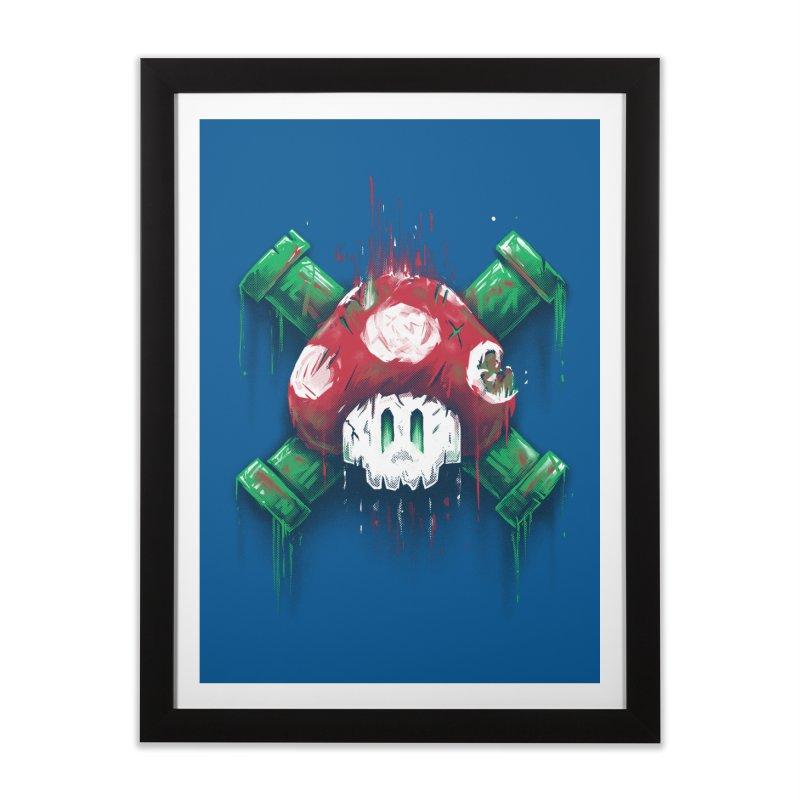 Mushroom Skull Home Framed Fine Art Print by c0y0te7's Artist Shop