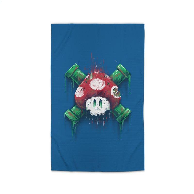 Mushroom Skull Home Rug by c0y0te7's Artist Shop