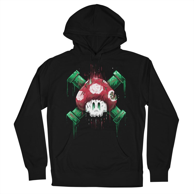 Mushroom Skull Men's Pullover Hoody by c0y0te7's Artist Shop