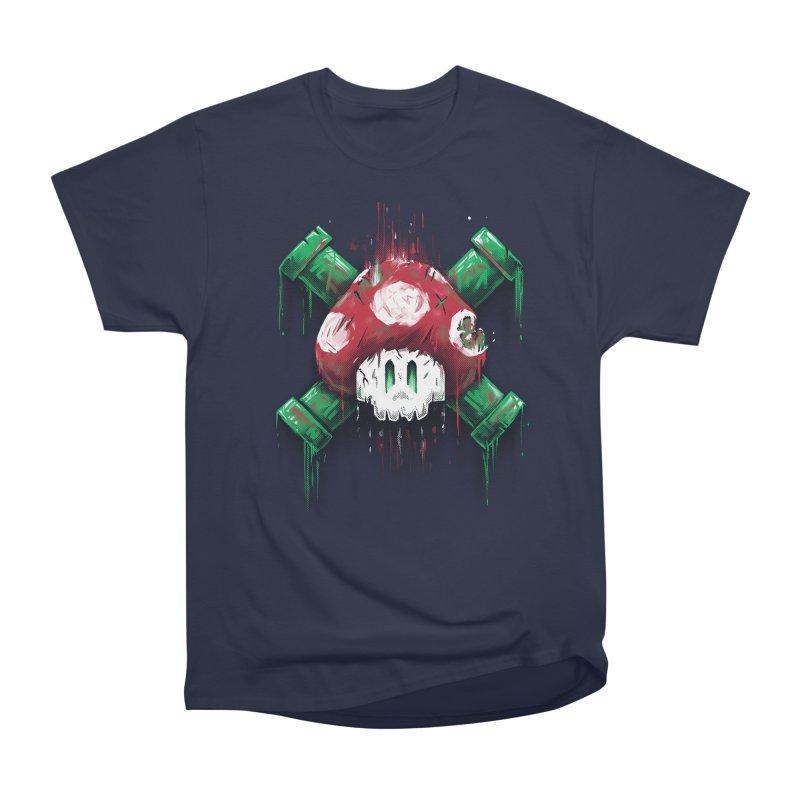 Mushroom Skull Men's Heavyweight T-Shirt by c0y0te7's Artist Shop
