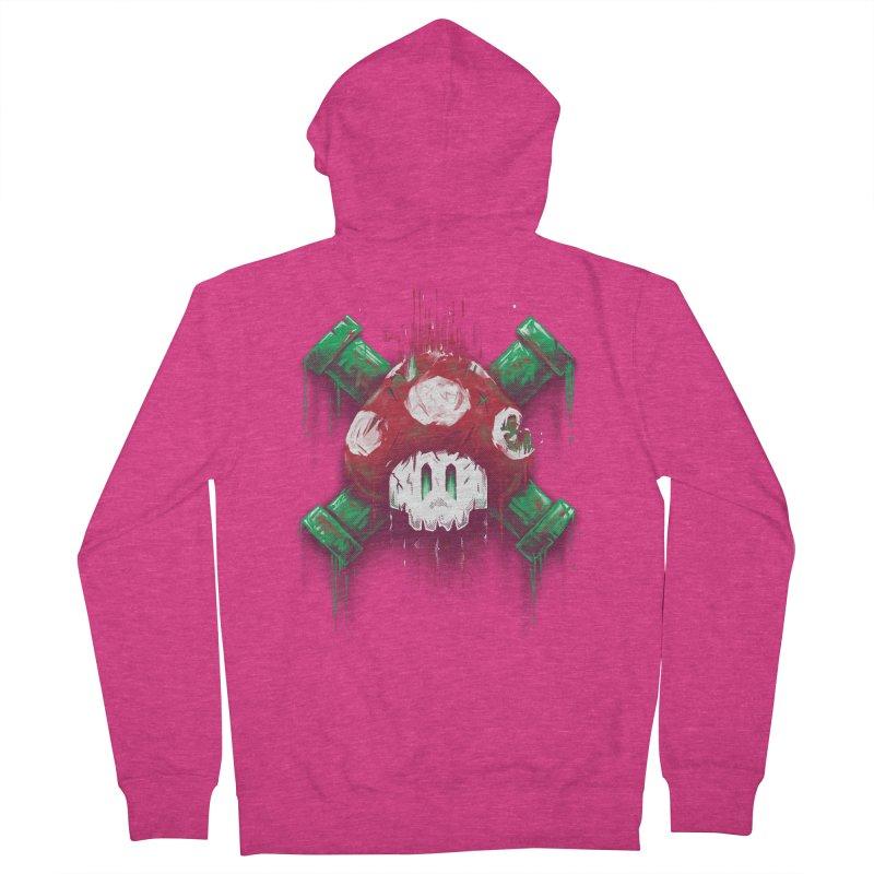 Mushroom Skull Women's Zip-Up Hoody by c0y0te7's Artist Shop