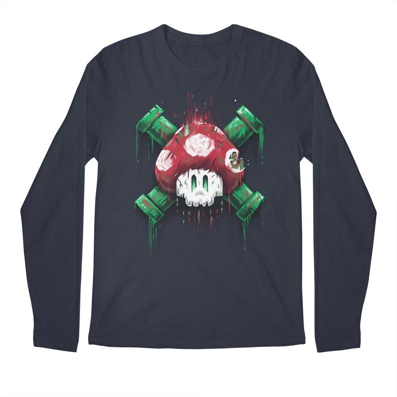 Mushroom Skull Men's Longsleeve T-Shirt by c0y0te7's Artist Shop