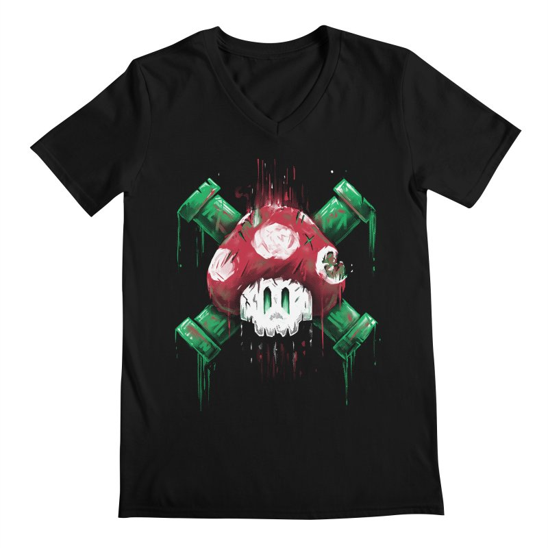 Mushroom Skull Men's V-Neck by c0y0te7's Artist Shop