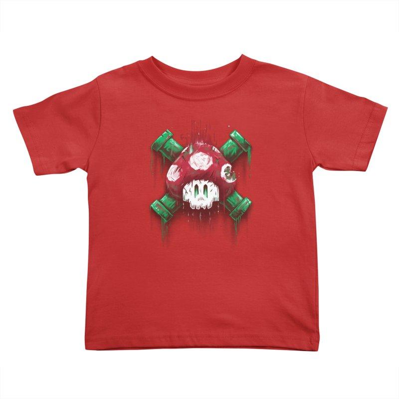 Mushroom Skull Kids Toddler T-Shirt by c0y0te7's Artist Shop