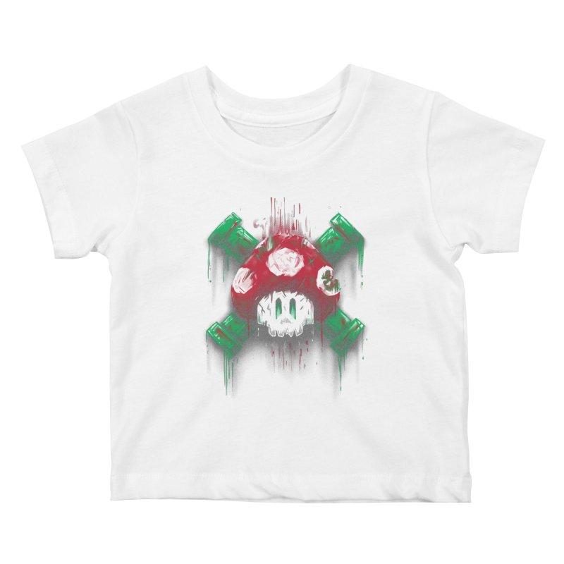 Mushroom Skull Kids Baby T-Shirt by c0y0te7's Artist Shop