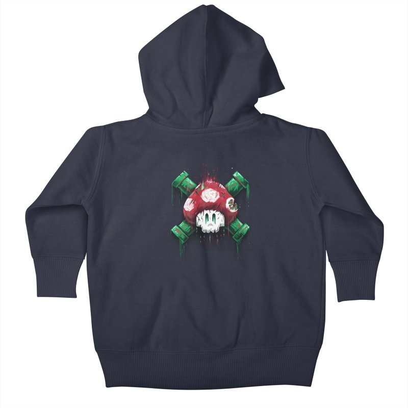 Mushroom Skull Kids Baby Zip-Up Hoody by c0y0te7's Artist Shop