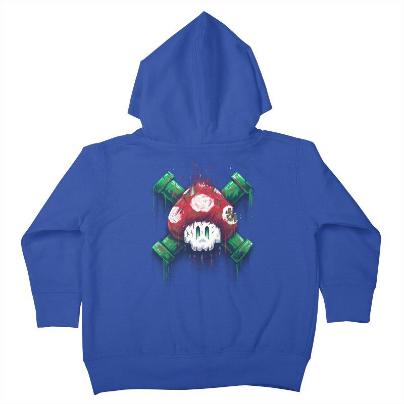 Mushroom Skull Kids Toddler Zip-Up Hoody by c0y0te7's Artist Shop