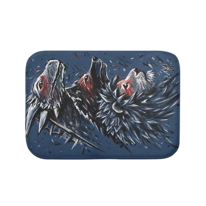 Dragon Wolf Lion Home Bath Mat by c0y0te7's Artist Shop
