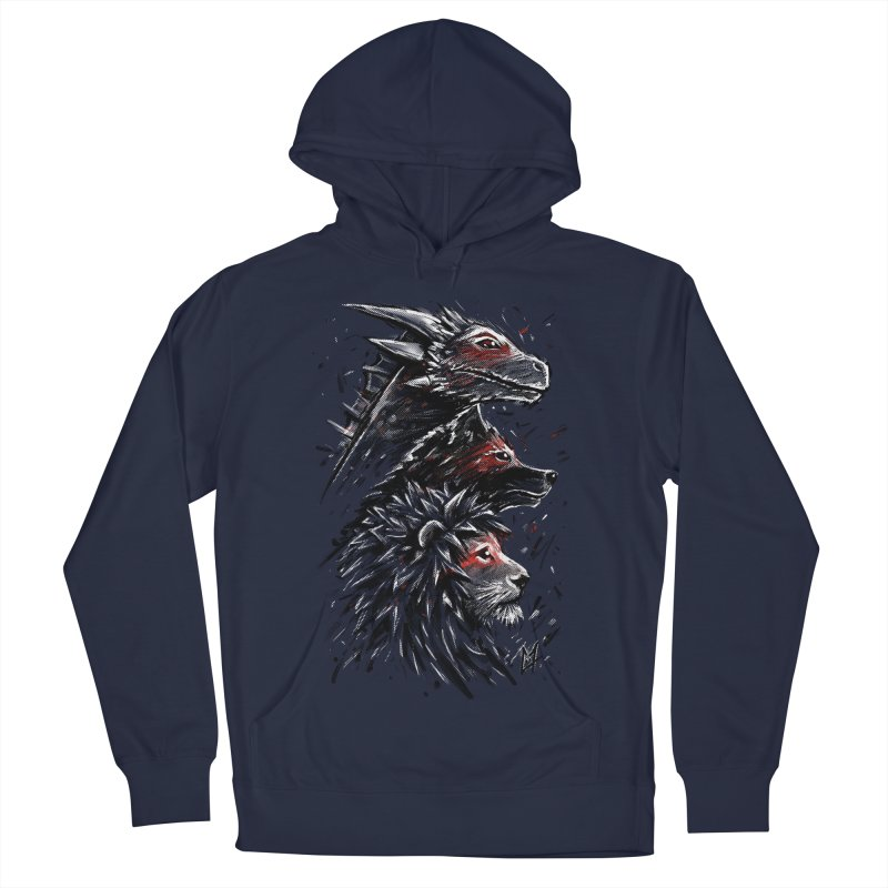 Dragon Wolf Lion Women's Pullover Hoody by c0y0te7's Artist Shop